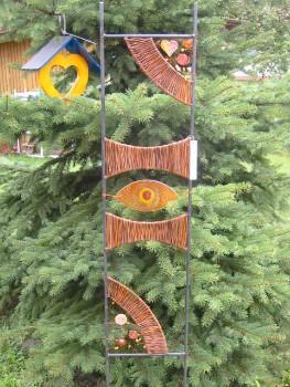 Weidenflechten for Rankgitter dekorieren